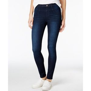 Vanilla Star High-Rise Pull-On Skinny Jeans